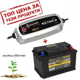 Зарядно CTEK+акумулатор ELECTRA на още по-добра цена