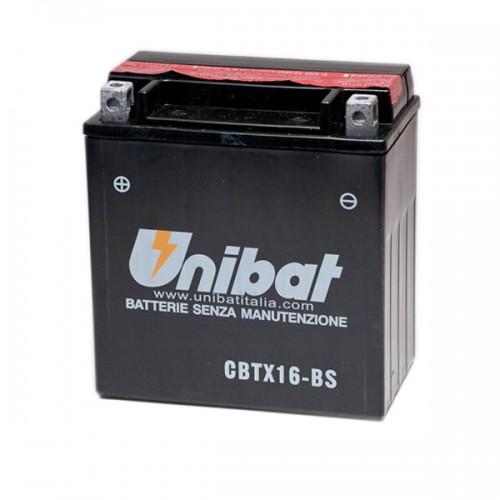 Акумулатор UNIBAT CBTX16-BS - 12 V / 14 Ah / L +