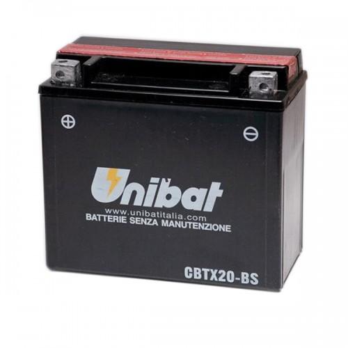 Акумулатор UNIBAT CBTX20-BS - 12 V / 18 Ah / L +