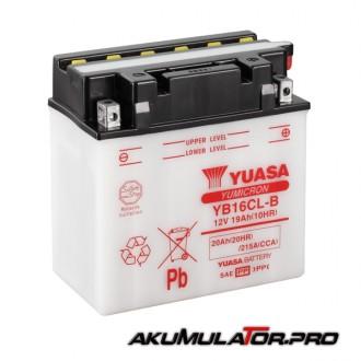 Акумулатор YUASA YB16CL-B 12V 20Ah R+