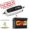 Акумулатор AGM BANNER  60Ah 640A + зарядно CTEK CT5 START STOP 12V 3.8A
