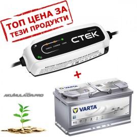 Промо пакети акумулатор AGM/EFB VARTA със зарядно CTEK