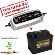 Зарядно CTEK MXS 5.0 5A 12V с акумулатор ELECTRA 60Ah 540A R+