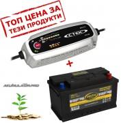 Зарядно CTEK MXS 5.0 5A 12V с акумулатор ELECTRA 85Ah 780A R+
