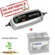 Зарядно CTEK MXS 3.8 3.8A 12V с акумулатор VARTA Sylver Dynamic 52Ah 520A 175mm R+