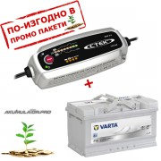 Зарядно CTEK MXS 5.0 5A 12V с акумулатор VARTA Sylver Dynamic 85Ah 800A 175mm R+