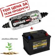Зарядно NOCO G1100 1.1A 6/12V с акумулатор  ELECTRA 56H17 56Ah 480A R+