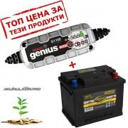 Зарядно NOCO G1100 3.5A 6/12V с акумулатор ELECTRA 60H19 60Ah 540A R+